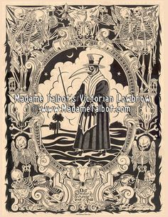 Madame Talbot's Plague Doctor Poster by Victorian Lowbrow, $14.95