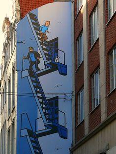 ღღ Tintin, Milou & Captain Haddock: Where's Banksy?. Bruxelles