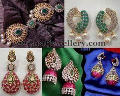 Jewellery Designs: Ruby Pearls Hangings Gallery