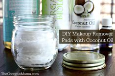 Homemade Makeup Remover Pads - I've used coconut oil as a natural makeup remover for years. Now I use these pads as an easy way to clean my face without the mess!