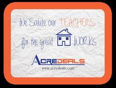 www.acredeals.com Happy #teachersday #residentialproperty #realty