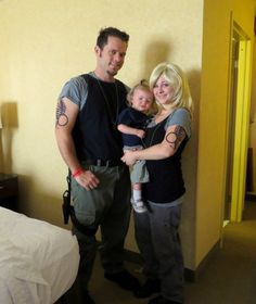 Samuel Anders, Kara Thrace (Starbuck) and a Viper Nugget - Battlestar Galactica Cosplay at Rocky Mountain Con