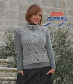 Clio Waistcoat in Adriafil Lana Naturale Inca - Downloadable PDF. Discover more patterns by Adriafil at LoveKnitting. We stock patterns, yarn, needles…