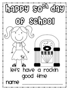 50th day of school clipart