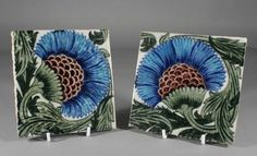 William De Morgan sands end pottery tiles #ukauctioneers