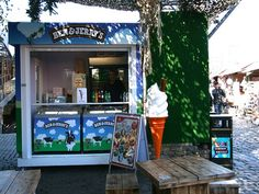 Portable ice cream kiosk for Ben & Jerry's at Camden Market, London