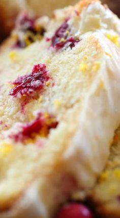Cranberry Orange Pound Cake ~ So moist and is perfect for the winter and holiday season!