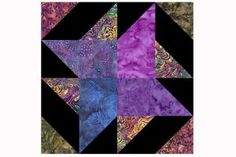 """8"""" Quilt Block Patterns Are Perfect For Quilts of Any Size: Jewel Tone Pinwheel Quilt Blocks"""
