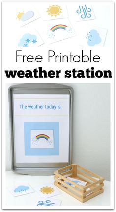 Free printable weather station for preschool. Fun preschool science activity that children can play and learn with.