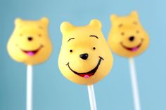 Winnie the Pooh cake pops courtesy of Bakerella-too cute!