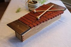 Beautiful 13 note wooden xylophone. Go to www.youtube.com/gratescovestudios to have a listen. Spokane Washington, Wooden Crafts, Theatre, Instruments, Drama, Note, Music, Youtube, Beautiful