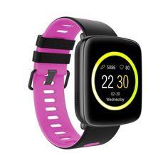 TechComm GV68 Smart Watch Bluetooth Waterproof IP68 Heart Rate Monitor, Pink