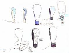 Beautiful, sculpture like lamp that unites modern Scandinavian design with Spanish elegance. Designed by Jordi López Aguiló, Collar Lamp features organic Design Light, Lighting Design, Spanish Design, Industrial Design Sketch, Technology Design, Light Project, Diffused Light, Organic Shapes, Magazine Design
