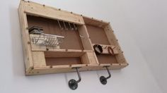 Industrial Style Jewel Holder from Pallets Shelves & Coat Hangers