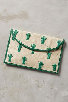 DIY THIS // Cactus Envelope Clutch - anthropologie.com