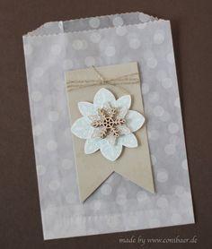 www.conibaer.de - Snowflake bag /Schneeflocken-Tüte #stampinup #snowflake #Schneeflocke