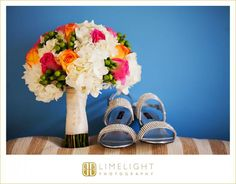 Limelight Photography, www.stepintothelimelight.com, Ocean Key Resort, Key West, Florida, Wedding, Bouquet, Flowers, Pink, Green Orange, White, Blue, Silver, Shoes, Sandals