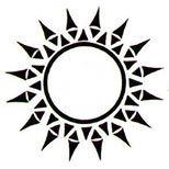 Tribal sun tattoo art