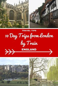 England Travel Inspiration - looking for a day trip from London by train then let me help you with some beautiful destinations from cities, towns, villages and of course a castle or two! You don't need to rent a car to escape London, the trains are a fabulous and speedy way to venture out of the capital to destinations like Brighton, Cambridge, Oxford and Rye...pop on over to the blog to learn my other 6 fabulous British day trips including some handy websites to help plan your English…