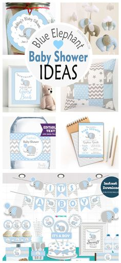 Boy Elephant Baby Shower – Prepare a cute and delicate Baby Shower Blue and gray Elephant and surprise your guests. There is a baby on the way!, This is a great joy, but also comes the concern of planning the baby shower and to help you with that here you have 3 tips on how to make it easier, faster and fun:Read more at: https://partymazing.com/boy-elephant-baby-shower/