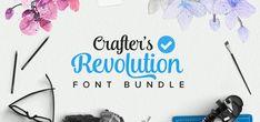Crafters Revolution Font Bundle | Font Bundles
