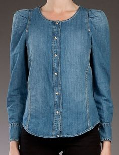 Isabel Marant Etoile Denim Blouse- Utah religious cult denim awesome!