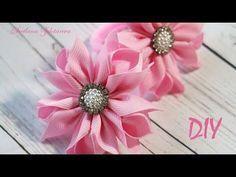 Ободок, Резинки КАНЗАШИ МК/DIY Kanzashi Flowers - YouTube #hairclipsdiy
