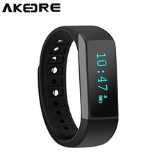 Smart Bracelet AKEDRE Smart Bracelet Fitness Tracker Sport Wrist Bluetooth 40 Pedometer Tracking Calorie Health Sleep Monitor Wristband for Android IOS 70 80 81 Iphone 4s5s66 PlusBlack >>> You can get more details by clicking on the image.