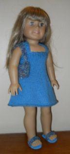 American Girl Knit Sundress  Beginner Pattern