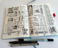 T. Matthews Fine Art: Bullet Journal Pages 46-47 - Completed