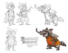 ArtStation - Rocket & Groot, jeff merghart
