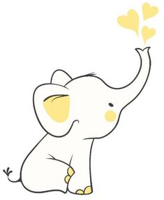 Elephant Doodle, Baby Elephant Drawing, Elephant Art, Elephant Drawings, Baby Elephant Images, Cute Elephant Cartoon, Elephant Template, Elephant Outline, Elephant Applique