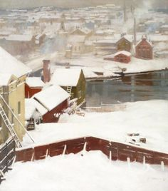 Albert Edelfelt (Finnish, 1854-1905)  The First Snow