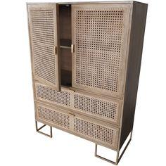 Raffles 2 door 2 drawer wardrobe natural rattan 3 - Factory sofas sevilla ...