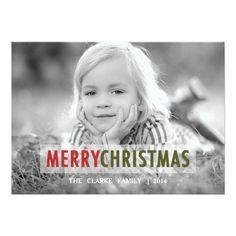 MODERN CHRISTMAS   HOLIDAY PHOTO CARD.  Personalize your own Christmas cards with your own photos and text. #Christmas #Xmas #christmascards  http://www.zazzle.com/modern_christmas_holiday_photo_card-161601408864883983?rf=238133515809110851&tc=PinterestMsPlnr