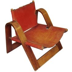 Attributed to Borge Mogensen, leather and wood chair, 1950s/60s.