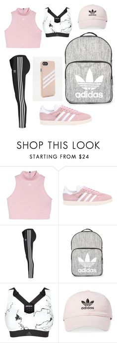 """Adidas"" by kaylakmichell-kat ❤ liked on Polyvore featuring adidas Originals, Topshop and adidas"