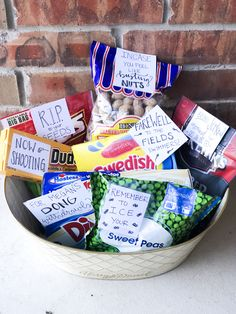 Vasectomy gift basket - Care Package ideas Newest 2020 Gag Gifts, Craft Gifts, Funny Gifts, Jelly Beans, Thoughtful Gifts, Gift Baskets, Fathers Day Gifts, Stocking Stuffers, Packaging