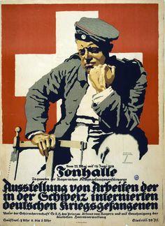 Ausstellung von Arbeiten der in der Schweiz internierten deutschen Kriegsgefangenen.