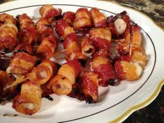 Perfect for a #party! 'Bacon Wrapped Water Chestnuts' - our newsroom went crazy for them!
