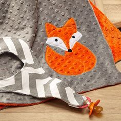 Fox Minky Blanket by LollyGagsLLC on Etsy, $16.99