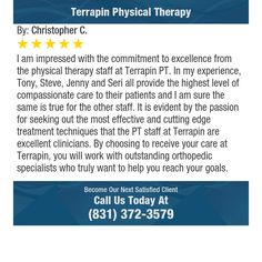 I am impressed with the commitment to excellence from the physical therapy staff at...