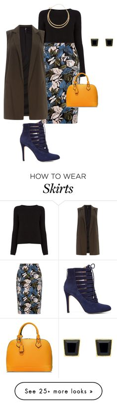 """plus size skirt remixed for work"" by kristie-payne on Polyvore featuring BCBGeneration, Oasis, Evans, M&Co and Monet"