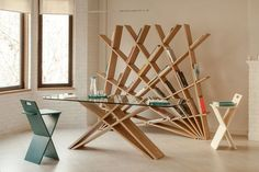 """The Unsual """"Fan-shaped"""" Shelves - CHEFT Collection http://bestdesignideas.com/the-unsual-fan-shaped-shelves-cheft-collection"""