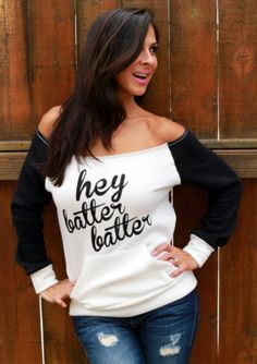 Hey Batter Batter.  NoShoulder FD Perfect by FiredaughterClothing, $45.00