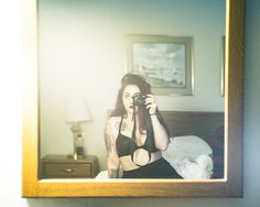 selfie hotel room mirror boudior photography photographer rockford illinois belvidere loves park machesney sexy sensual love yourself self-love tattoos alternative goth model modeling photo self portrait portraiture moody