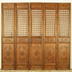 Furniture, : Heavenly Furniture For Living Room Decoration Using 5 Panel Chinese Wooden Accordion Room Divider