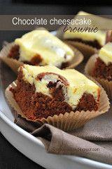 Chocolate cheesecake brownie