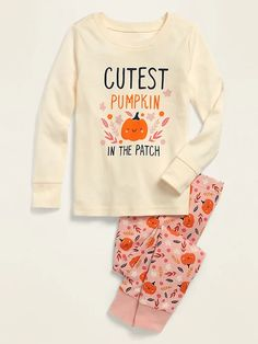 Halloween Pajama Set for Toddler & Baby | Old Navy Halloween Pajamas, Halloween Sweatshirt, Halloween Outfits, Holiday Outfits, Holiday Clothes, Baby Girl Pajamas, Girls Pajamas, Toddler Pants, Toddler Girl Outfits