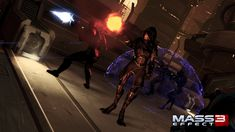 Nyreen, our first look at a female Turian! Mass Effect 3: Omega DLC screen shot.